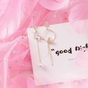 NEW Unicorn Long Pearl Handmade Earrings